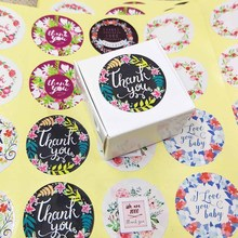 NEW DIY  112PCS Thank You Sticker Label Flower Circle New Style designs 1000% Thanks love you Baby Mix Design Stickers
