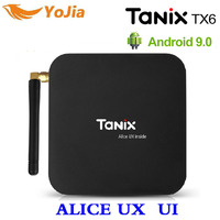 ALICE UX Allwinner H6 Android 9.0 Smart TV BOX TX6 4G/32G Quad core 2.4G/5G Dual Wifi Antenna BT4.2 4K Set Top Box H.265 Youtube
