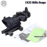 High Quality Tactical Rifle Scope 1X32 Red Green Dot Sight Scope Shooting Hunting Optics Sight Riflescope Fit 20mm Rail Mount