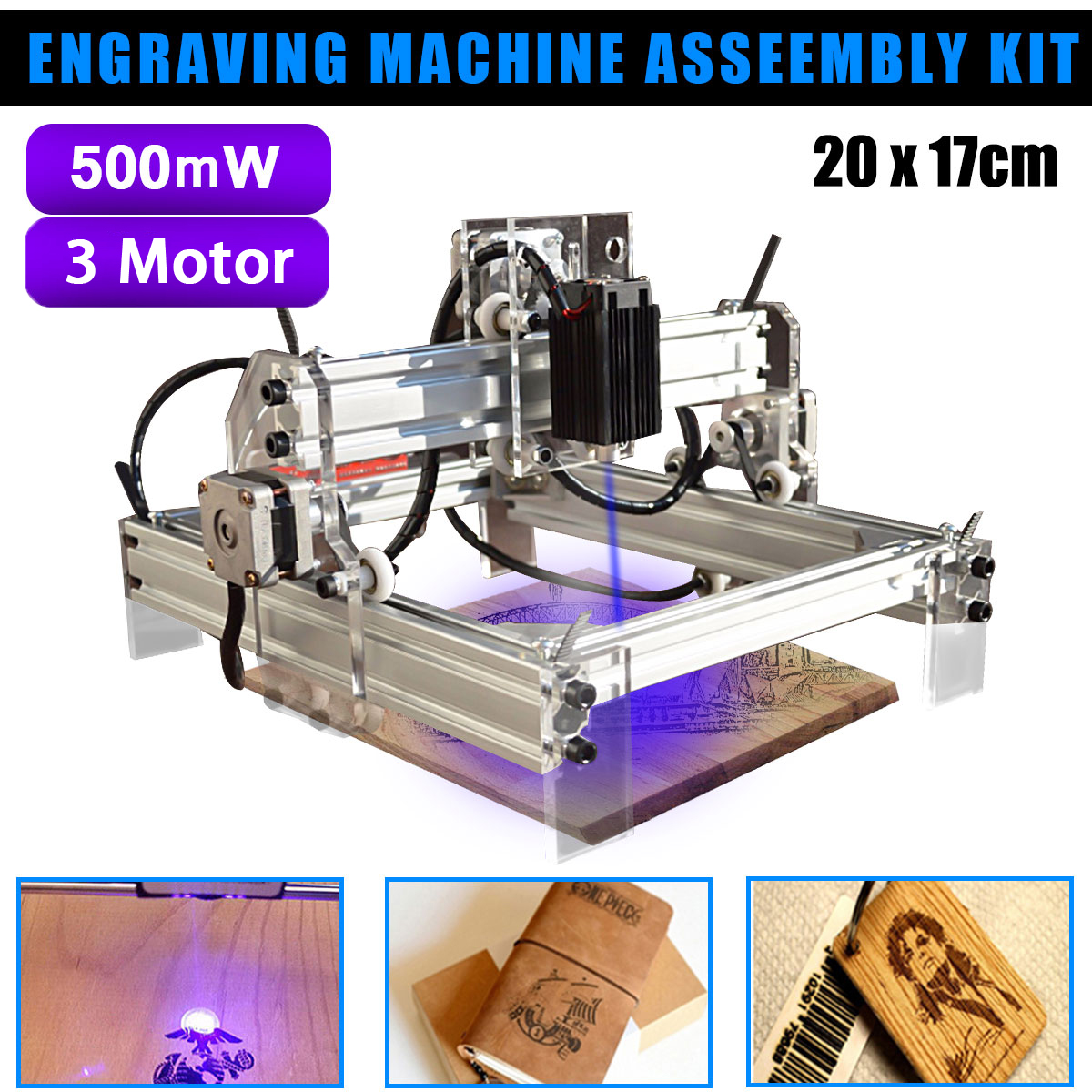 500/7000mW USB Desktop CNC Laser Engraver DIY Logo Mark Printer Laser Carving Machine Woodworking Machinery Parts