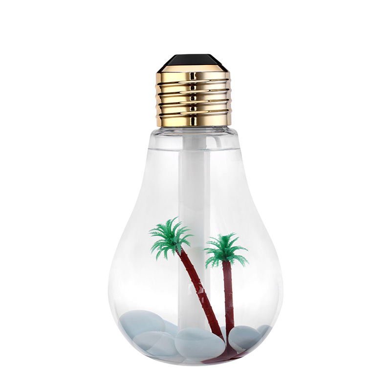 USB Ultrasonic Humidifier Home Office Mini Aromatherapy Colorful LED Night Light Bulb Aromatherapy Atomizer Creative Bottle home car dual use mini usb vehicle aromatherapy humidifier ultrasonic air water supply instrument atomizer
