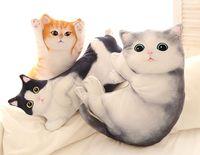 large 60cm simulation cat plush toy 3D Dimensional dog cushion zipper closure sofa cushion throw pillow birthday gift s2346