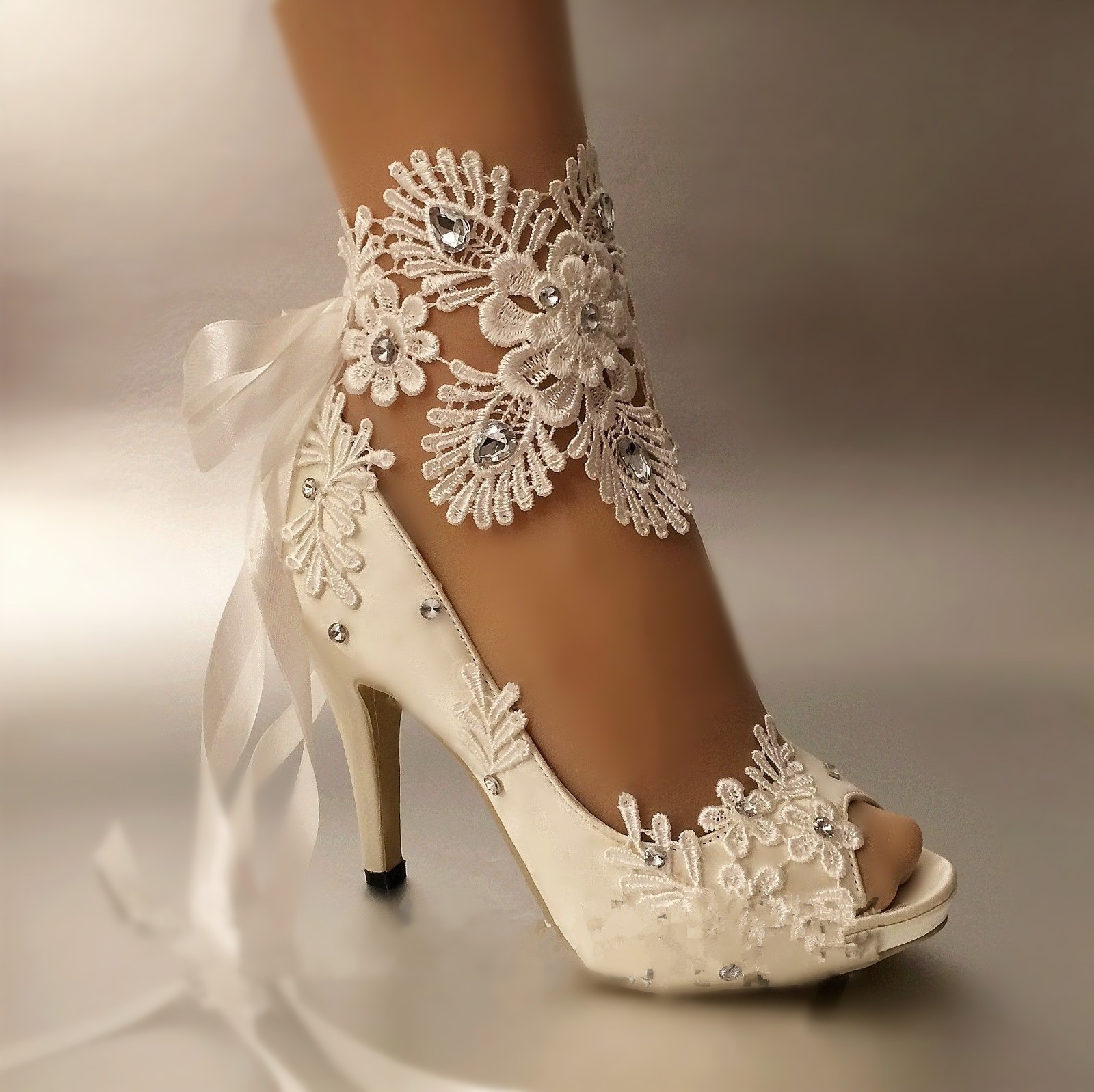 Bridal Shoes High Heels: Aliexpress.com : Buy Dress Shoes Women Pumps Open Toe Lace