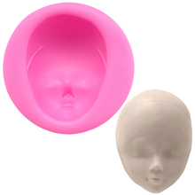 Girl Face Cake Mold Fondant Moldes De Silicona Taart Decoratie Letters Nuevos Silicone Molds Moulds for Crafts