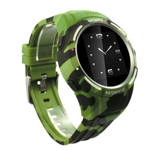 Sports Waterproof Smart Watch Altimeter Barometer Compass Thermometer Camouflage Plastic Smartwatch Android 3G Sim Card