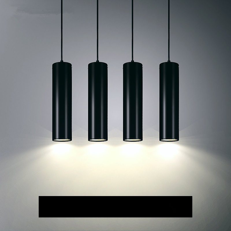 US $16.8 40% OFF|LED Pendant Lamps Tube Hanglamp Cylinder Pipe Pendant  Lights Kitchen Island Dining Room Shop Bar Counter suspension Lighting-in  ...