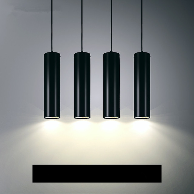 Led Pendant Lamps Hanglamp Cylinder Pipe Lights Kitchen Island Dining Room Bar Counter