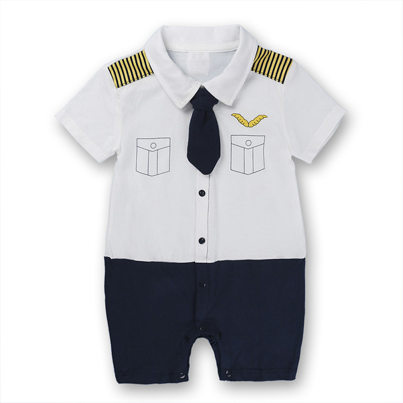 Toddler Infant Clothes Baby Clothing Summer Baby Boy Cosplay Captain Rompers Gentleman Roupas Bebes Jumpsuits Newborn Bobo 0-24M baby rompers cotton long sleeve 0 24m baby clothing for newborn baby captain clothes boys clothes ropa bebes jumpsuit custume