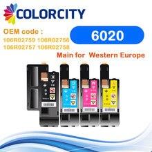 Conjunto 1 COLORCITY cartucho de toner compatível para Xerox Phaser 6020 6022 Workcentre 6025 6027 impressora para 106R02759/2756/ 2757/2758
