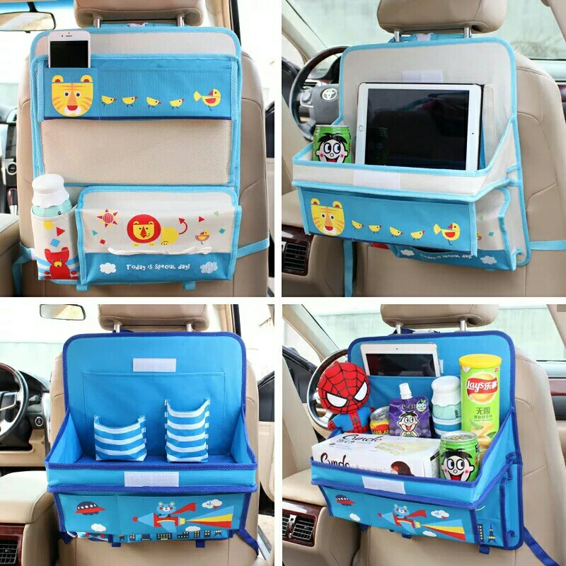 aliexpresscom buy car organizer for kids oxford cartoon auto organizers back seat child dining table storage box organizador car accessories from