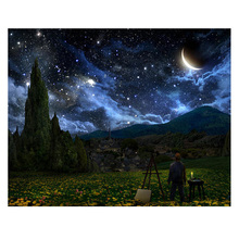 Diy Diamond Painting Nature starry night scene Embroidery contryside Dimaond Mosaic landscape
