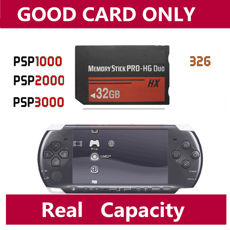 Full Capacity MS 4GB/8GB/16GB 32GB Memory Stick Pro Duo Memory Cards PRO-HG Duo memory card for PSP PRO Duo HX MS Card magicard rio pro duo ms