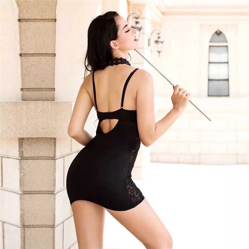 687ab43adcab3 ... Nuevo disfraces exóticos profesor uniforme vestido Sexy mujer Lencería  camisón erótico papel vestido profesor uniforme del ...
