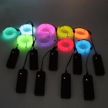 2M/5m Flexible Neon Light EL Electro Luminescent Wires With Battery Case Car Decoration for Tesla Hyundai Chevrolet Lada
