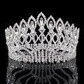 Grande de la vendimia Rhinestone Prom Corona de La Princesa flores De Cristal Novia Pelo de La Boda Accesorios Pageant Tiara Nupcial de la Joyería de La Cabeza