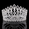 Vintage Big Rhinestone Prom Princess Crown Crystal Bride flower Tiara Bridal Head Jewelry Pageant Wedding Hair Accessories