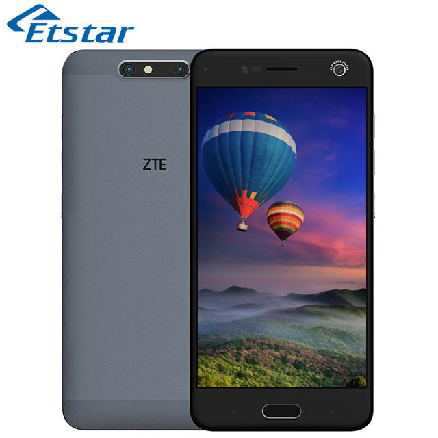 Original ZTE Blade V8 5.2'' Mobile Phone Snapdragon 435 Octa Core 4GB RAM 64GB ROM Dual Back Camera 13.0MP Plus 2.0MP Android7.0