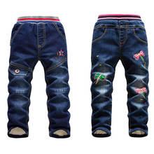 Jeans en coton pour enfants, vêtements dautomne taille 10 pour petites filles, pantalon chaud pour grands et garçons, à la mode, hiver offre spéciale