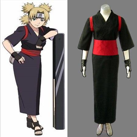 Black Temari Cosplay Costume From Naruto Shippuuden Anime