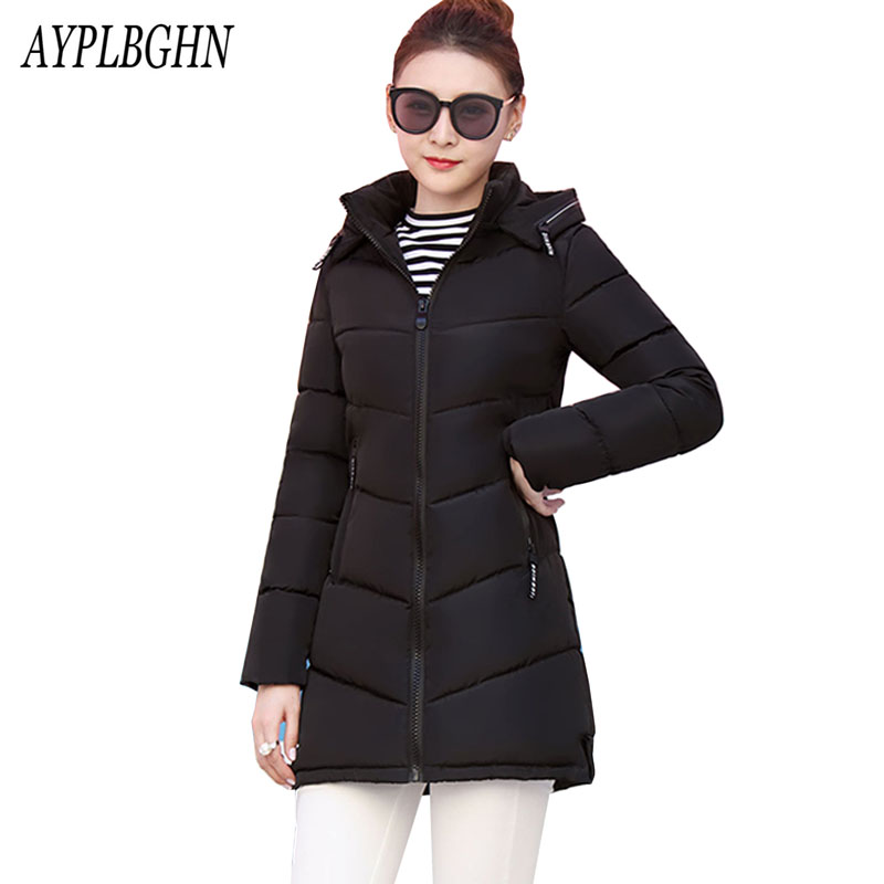 fashion Woman Parka Warm Outerwear Winter Coat 2017 New Women Winter Jacket Plus Size Thick Cotton Padded Fur Hooded Jacket 6L09 high quality 2017 new winter fashion cotton thick women jacket hooded women parkas coats warm parka outerwear plus size 6l69