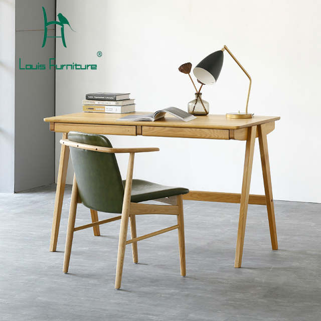 Online Shop Louis Fashion Computer Table North European Real Wood
