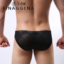 Men's Underpants Silk Sexy Stripe Underwear Sexy Colorful Gay Underwear Men's Hot Hips Up Transparent Jockstrap