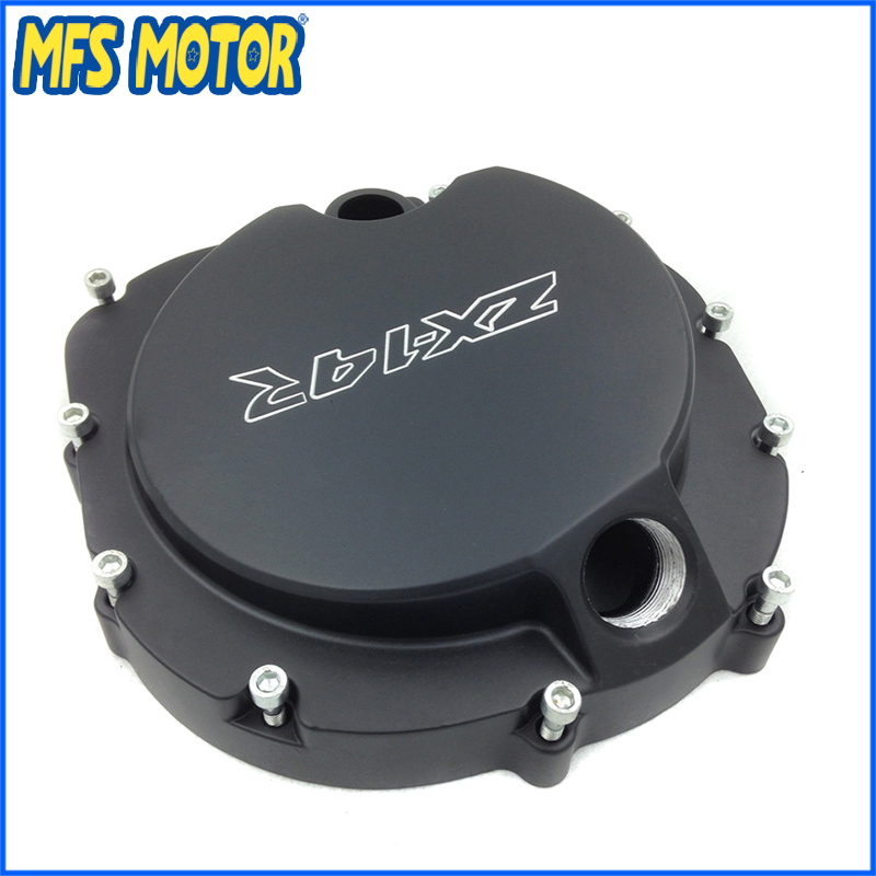 Freeshipping Motorcycle right side Engine Clutch cover For Kawasaki ZX14R ZZR1400 2006 2007 2008 2009 2010 2011 2012 2013 BLACK the new motorcycle bike 2006 2007 2008 2009 2010 2011 kawasaki zx 10r zx10r zx 10r knife brake clutch levers cnc