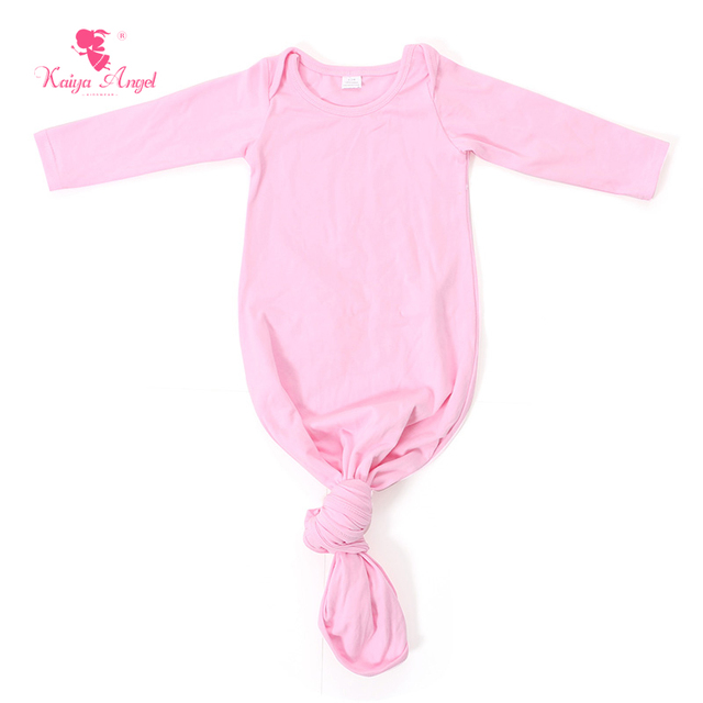 Baby Sleep Gown Pink Newborn Sleep Gown Light Blue Baby Tie Gown ...