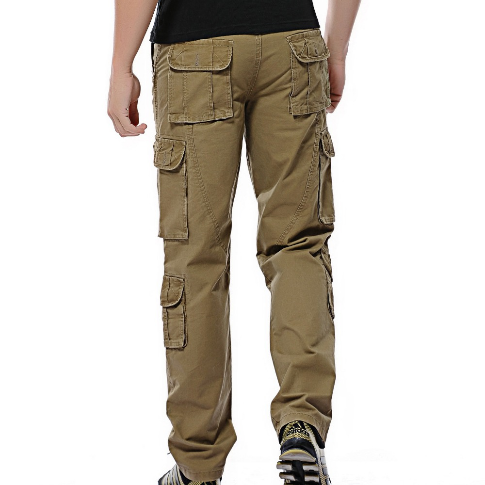2019 Autumn Mens Cargo Pants Army Tactical Pants Male Multi-pocket Outwear Straight Trousers Military Pant Men Pantalon Homme 46