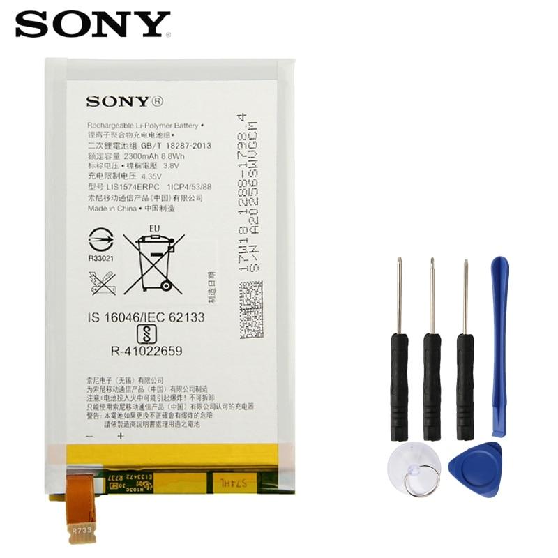 Sony Bateria de Substituição Original Para SONY Xperia E4 E2003 E2033 E2105 E2104 E2115 LIS1574ERPC Genuine Bateria Do Telefone 2300 mAh