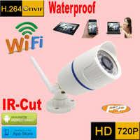 Cámara ip 720 p wifi cctv sistema de seguridad impermeable inalámbrico resistente al agua exterior infrarrojos mini cámaras de seguridad micro cam