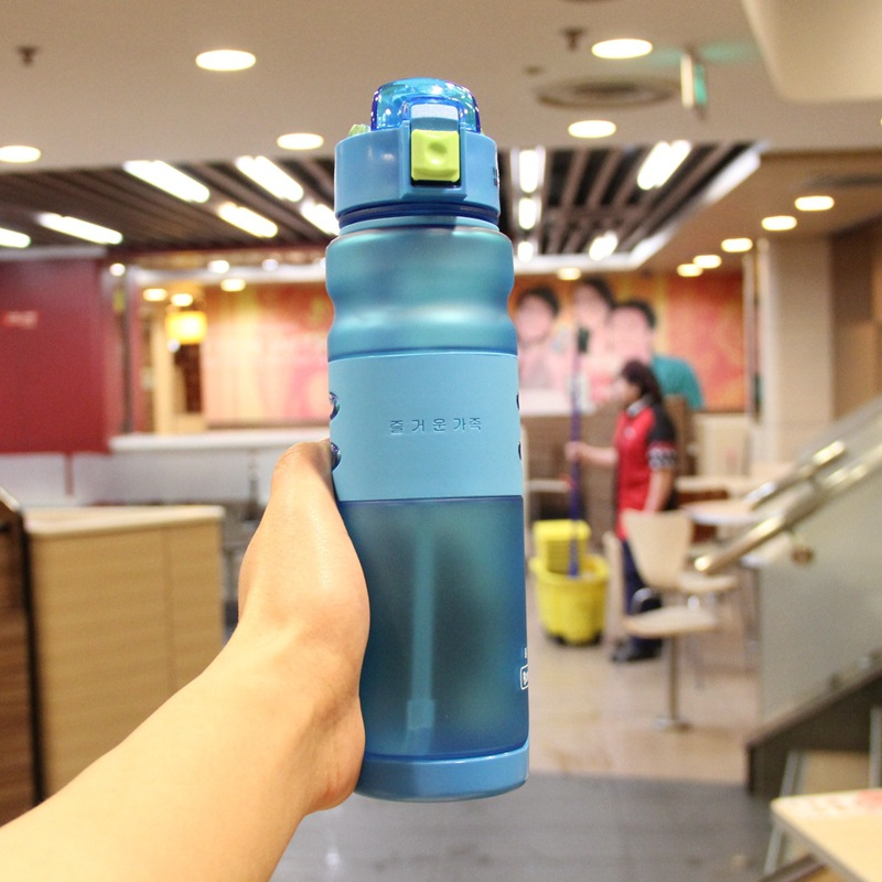 Sport Water Bottle with Straw Plastic Camping My Bottles Bicycle Portable font b Herbalife b font