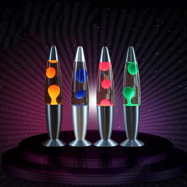 Hoomall 1 pc 터치 스위치 테이블 용암 램프 장식 야간 조명 침실 책상 야간 램프 사무실 홈 장식