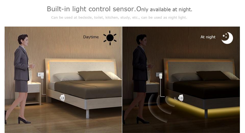 Wireless PIR Motion Sensor LED Strip light 12V Auto on/off Stair Wardrobe Closet kitchen Night lamp 110V 220V 1M 2M 3M 4M 5M