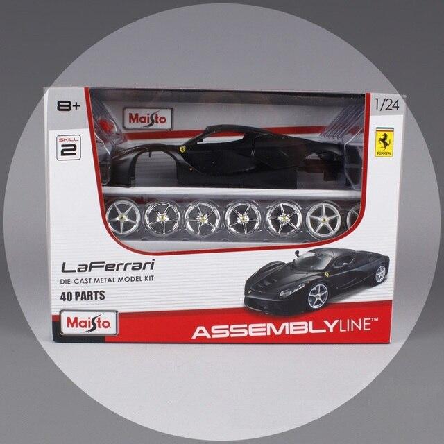 Maisto 1:24 modelos de carros esportivos para la carmetal frr sport car diecast modelos diy brinquedos para as crianças