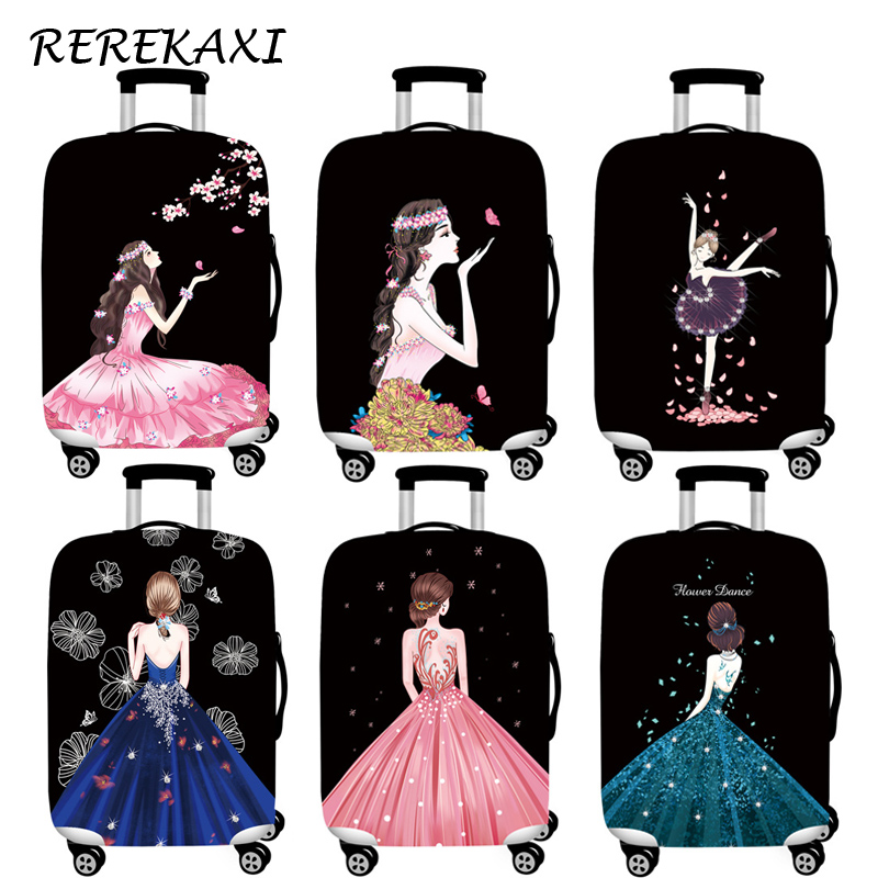 Princess Skirt Luggage Cover Suitcase Elastic Protection Covers 18-32 Inch Trolley Baggage Dust Case Cover Travel Accessories
