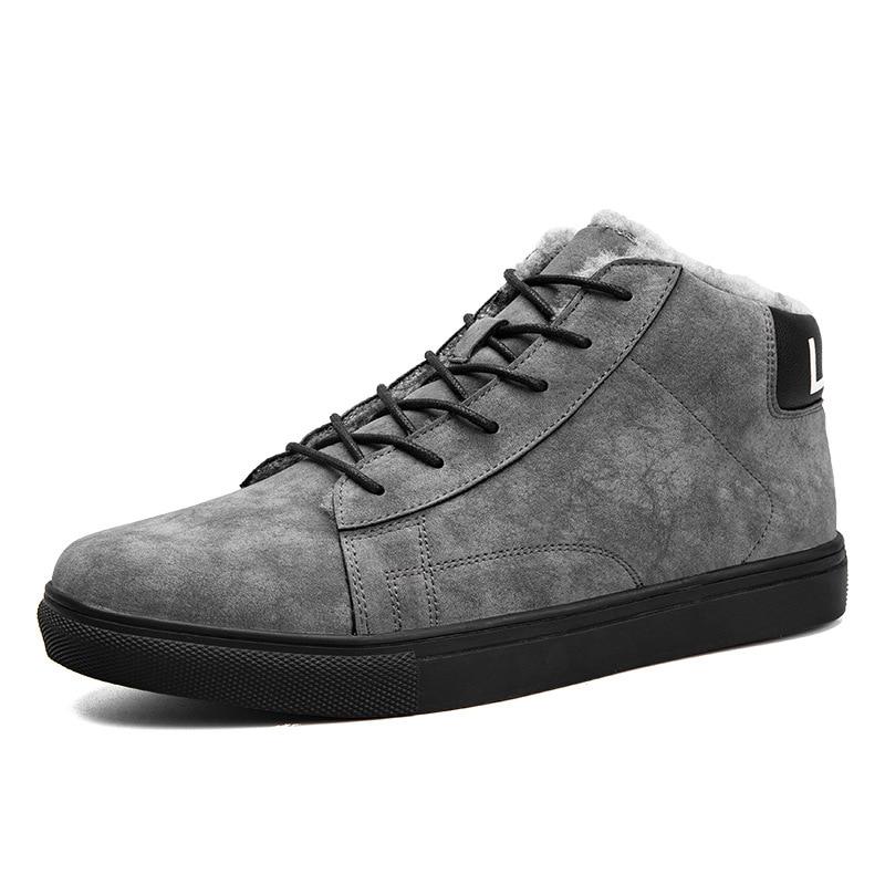 Mesh velvet Homens Dos top Lining Lining mesh Tornozelo Lining E 2018 Outono Sapatos Chegada Quentes High Casuais Inverno De Para Couro Camurça Nova Baixos PqwStRUUx