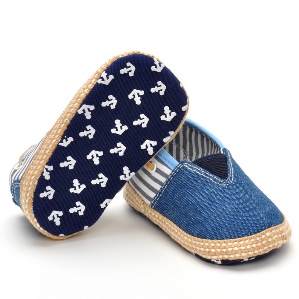 Canvas Kids Baby Boys Girls Shoes Summer Casual Stripes First Walker Blue Sneakers Toddler Newborn Footwear