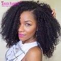 Высочайшее Качество Афро Странный У Части Парик Необработанные Бразильские Странный Вьющиеся средняя Часть Upart Парик Для Чернокожих Женщин У Части Kinky Afro парик