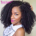 De Calidad superior Afro Rizado U Parte Peluca Sin Procesar Brasileña Rizada Rizada Parte medio Upart Peluca Para Las Mujeres Negras U Parte Kinky Afro peluca