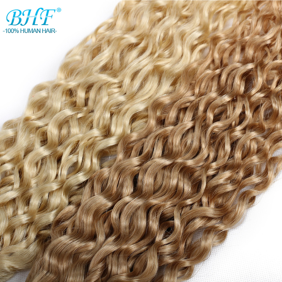 """BHF P27/613# Water Wave  Ombre Blonde Highlight Piano  Hair Weft 100g 18""""20""""22""""24""""Length 2"""