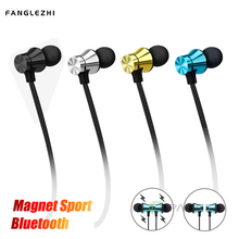 Magnetic Earphones Bluetooth Android with Microphone Helmets Wireless Neckband Earphone Noise Cancelling