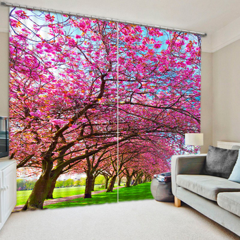 3D Colors In The Spring Bedding Room Living Room Window Curtains