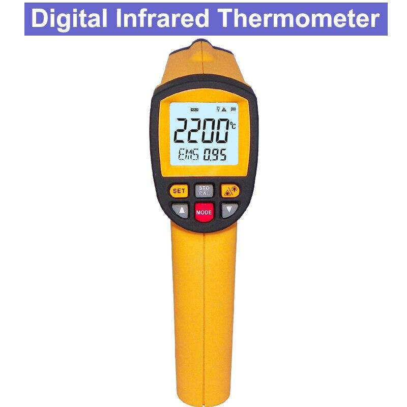 GM2200 Industrielle Sans Contact Numérique Infrarouge Thermomètre RS-232 avec ordinateur logiciel analyze
