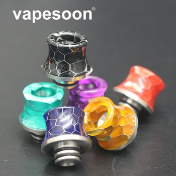 10PCS New!! High quality Resin Wide Bore 510 Thread SS Drip Tip For Rda Rba Atomizer Electronic Cigarette Accessories Mouthpiece