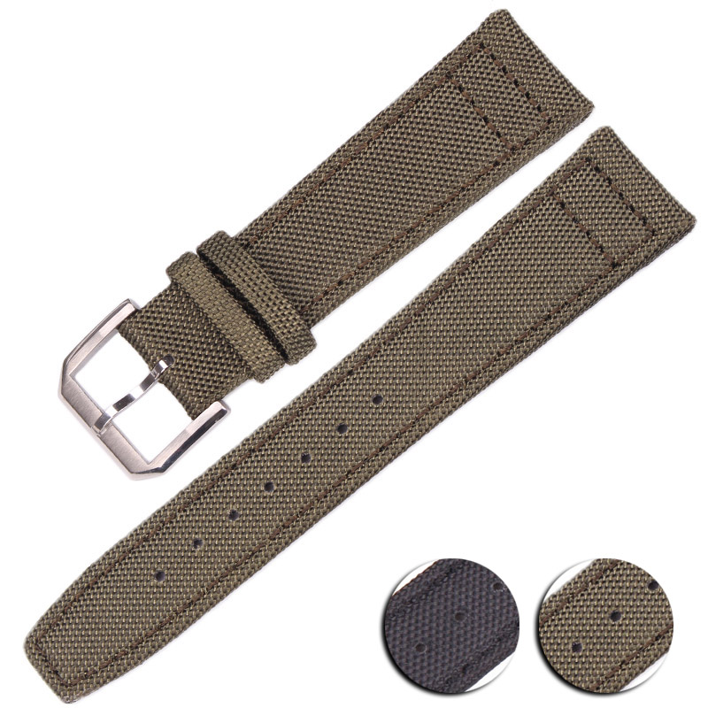 Green Black Nylon Watchbands 20mm 21mm 22mm Women Men High Quality Watch Band Strap With Stainless Steel Buckle цена и фото