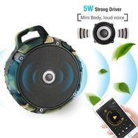 Bluetooth Speaker Mini Waterproof IPX7 Portable Wireless Handfree Call Redial TF Card Dustproof Anti Fall Keychain