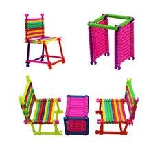150 шт. 3D модель строительные игрушки Детский Сад умные палочки строительные блоки детские пластиковые Развивающие игрушки подарки на день рождения