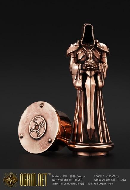 OGRM Crafts World Of Warcraft Championship Award Trophy Bronze Statute Figure Dark Portal Protector Bronze Sculpture Statue 3