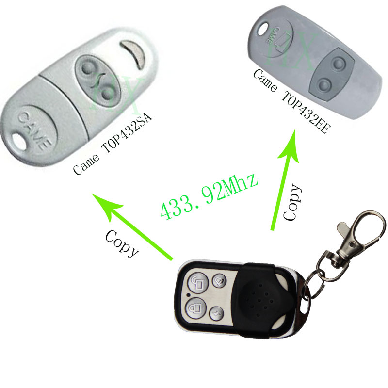 copy CAME TOP 432SA TOP 432EE Universal Remote Control Transmitter Garage Door Gate Fob